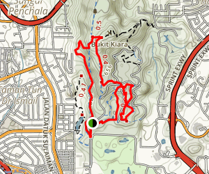 Bukit Kiara Loop Trail Map