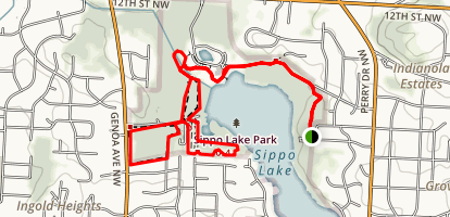 Sippo Lake Trail Map