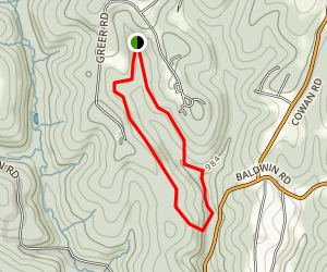 Settler's Cabin Green Loop Trail Map