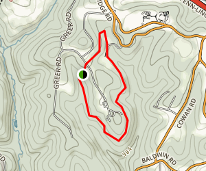 Settler's Cabin Blue Loop Trail Map