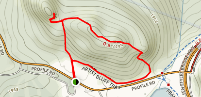 Artist Bluff Trail Map