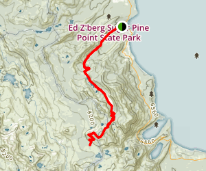 Crag Lake and Rubicon Lake Trail to PCT Map