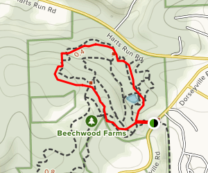 Beechwood Farms Nature Reserve Trail System Map