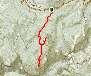 Porcupine Creek Trail to Indian Ridge Natural Arch to North Dome Map