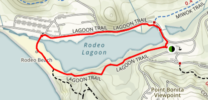 Marin Headlands Rodeo Lagoon Trail Map