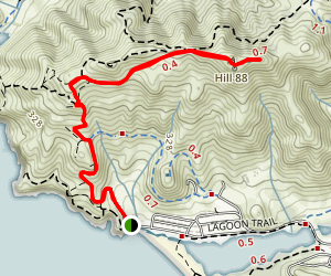 Rodeo Beach to Hill 88 Map