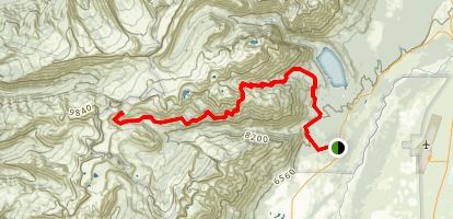 Open Canyon Trail to Marion Lake Map