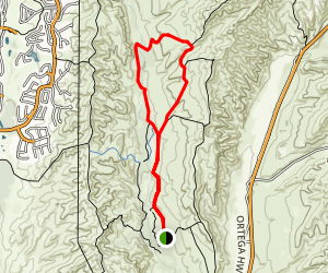 Bell Canyon- Oso Trail Loop Map