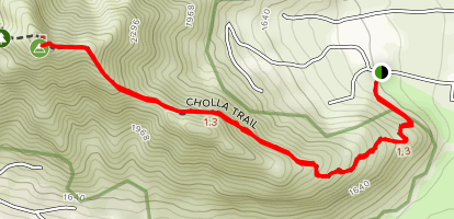 Camelback Mountain Via Cholla Trail  Map