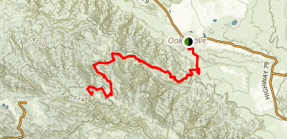 Oak Grove Truck Trail to High Point Map