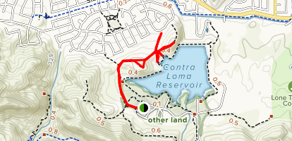 Contra Loma Resevoir Ridge Trail Map