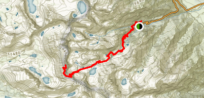 Mount Muir via the Mount Whitney Trail Map