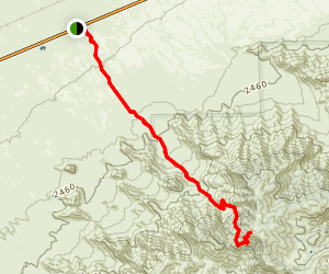 Harquahala Mountain Trail Map