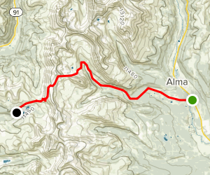 Mosquito Pass Trail Map