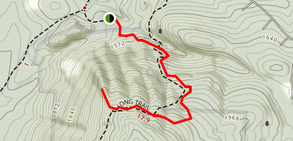 Keewaydin Trail to Overlook Spur via Long Trail (Appalachian Trail) Map