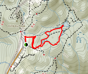 Goldie and Flower Lake Trail Map