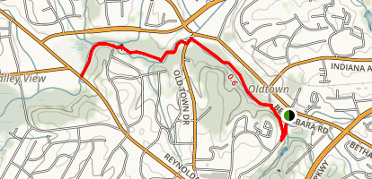 Bethabara Park Trail Map