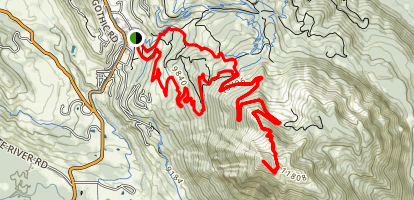 Upper Westside to Crested Butte Trail Map