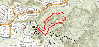 Santiago Oaks Trail Map