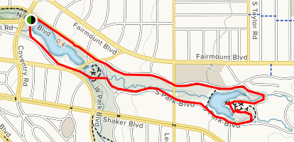 Shaker Lakes Trail Map