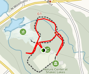 Nature Center at Shaker Lakes Trail Map