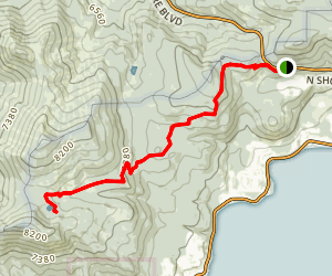 Tahoe Rim to Watson Lake Trail Map