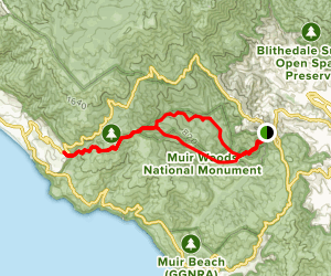 Ben Johnson Dipsea Trail Map
