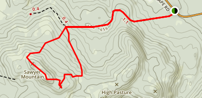 Sawyer Mountain Trail Map