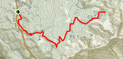 Alta Ghost Town Trail Map
