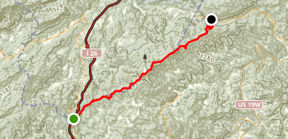 Appalachian Trail: Sams Gap to Spivey Gap Map