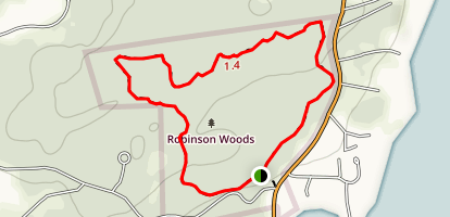 Robinson Woods Outer Loop Trail Map