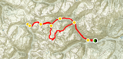 Cinammon Pass Trail Map