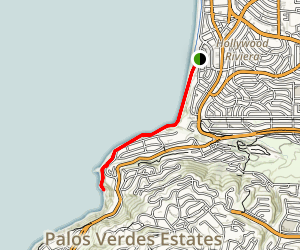 Malaga Cove to Flat Rock Point Trail Map