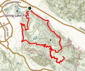 Annadel State Park North Loop Trail Map