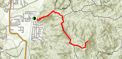 Clara Burgess Trail to Murray Hill Map