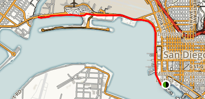Embarcadero to Spanish Landing  Map