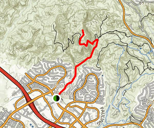 Borrego Canyon to Vista Look Out Trail Map