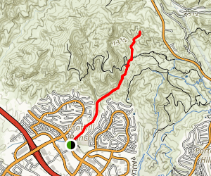 Borrego Canyon to Red Rock Canyon Map