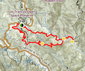 Monte Bello Preserve Loop Trail Map