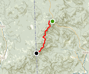 Appalachian Trail: Beaver River Road to Carolo Col Shelter Map