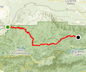 Mojave River Forks Pacific Crest Trail Map