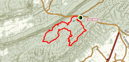 Poverty Creek Horse Trail Map