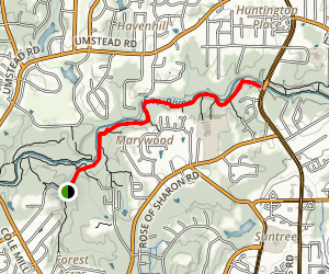 Pump Station Trail to Laurel Bluffs Trail Map