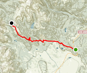 Colorado Trail from Kenosha Pass to Georgia Pass Map