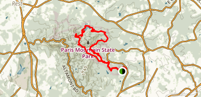 Paris Mountain State Park Big Loop Trail Map