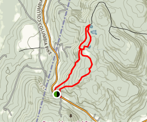 Twin Pond via Taconic Crest Trail to Taconic Skyline Trail Map