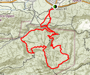 Potrero to Tripeaks Trail Map