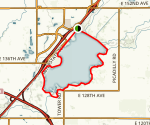 Barr Lake Trail Map