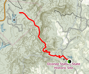 Oconee Station State Historic Site Trail Map