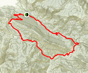 Cache Creek to Game Creek Loop Trail Map
